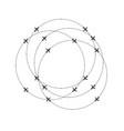 aircraft circling on a circular trajectory vector image vector image