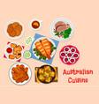australian cuisine traditional food icon design