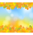 autumn blue topbot vector image vector image