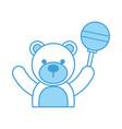 baby shower teddy boy rattler toy animal vector image vector image