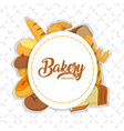 bakery food concept vector image vector image