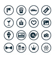 birthday icons universal set vector image vector image