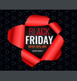 black friday sale poster in torn paper style vector image