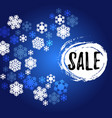 blue and white snowflakes sale banner vector image