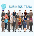 business team group of detailed office employee vector image vector image