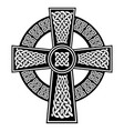 celtic knot in the cross with surrounding ring vector image