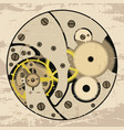 clock mechanism assembly vector image vector image