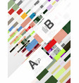 colorful lines rectangles and stripes with option vector image vector image