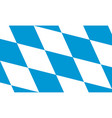 flag bavaria state in germany vector image vector image