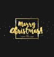 gold glitter christmas lettering design in 3d vector image