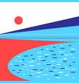 graphic landscape vector image