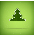 Green Christmas tree card vector image