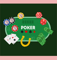 green poker table vector image vector image