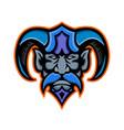 hades greek god head mascot vector image
