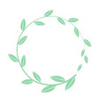 hand drawn round frame floral wreath vector image vector image