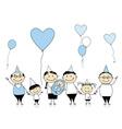 Happy birthday big family with children newborn ba vector image vector image
