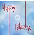 Happy Holidays for holiday vector image