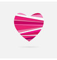 heart of paper strips vector image vector image