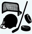 Hockey icon vector image vector image