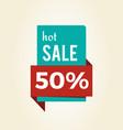 hot sale -50 off promo label informing discount vector image vector image