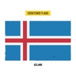 Icelandic grunge flag with little scratches on vector image vector image