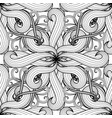 intricate black and white floral seamless vector image
