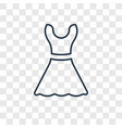 lace dress with belt concept linear icon isolated vector image