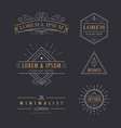 logo set vintage flourishes calligraphy elegant vector image