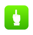 middle finger hand sign icon digital green vector image vector image