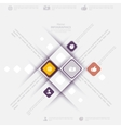 Modern infographic template with icons for vector image vector image
