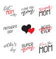 mothers day lettering calligraphic emblems set vector image vector image