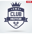 Motor Club Signs and Label vector image