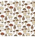 Mushroom seamless pattern autumn vector image