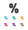 of business symbol on percent vector image