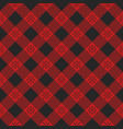 plaid seamless pattern red textile template vector image
