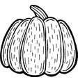 pumpkin - ink drawing coloring page for adults vector image vector image