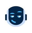 robot face icon smiling face cunning emotion vector image vector image