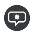 Round dialog starburst icon vector image vector image