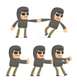 set of hacker character in different poses vector image vector image