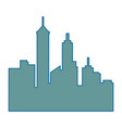 silhouette of city buildings icon vector image vector image