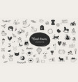 simple hand-drawn elements collection vector image vector image