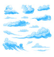 sky clouds set on white background vector image