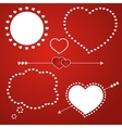 Speech bubble love template icon vector image vector image