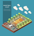 sport field isometric vector image vector image