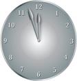 steel clock vector image vector image