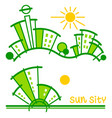 sun sity vector image vector image