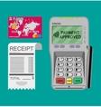 terminal receipt card vector image vector image