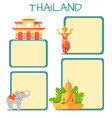 thailand touristic concept with copyspace vector image vector image
