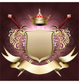 The shield with crown vector image vector image