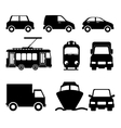 Transport and vehicles vector image vector image